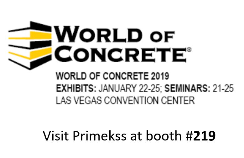 Visit us at World of Concrete 2019   Primekss