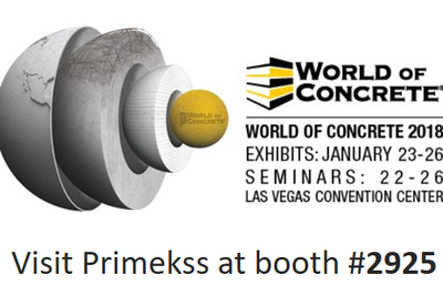 Visit us at World of Concrete 2018 - world's leading, annual event to the commercial concrete and masonry construction industries. Featuring indoor and outdoor exhibits, leading suppliers showcasing innovative products and technologies, exciting demonstrations and competitions, a world-class education programs. Primekss booth #2925.