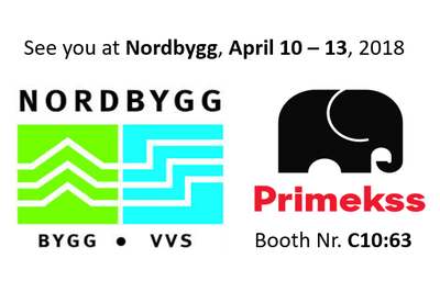 Primekss is going to participate in Nordbygg - Northern Europe´s largest and most important construction industry event! More than 900 exhibitors from over 30 countries were taking part with exciting innovations, smart solutions and new ideas.